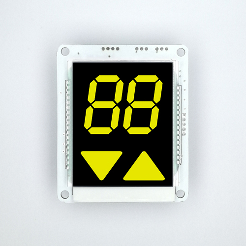 Customer Reference Design VA LCD Black Yellow